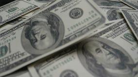 4K Argent de billet de banque du dollar pour le fond LES Etats-Unis dollars d'ensemble d'argent avec le compte aux factures de ce clips vidéos