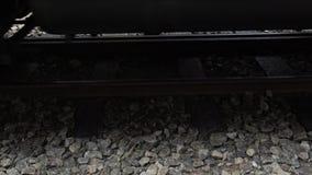 4k, as rodas do Alishan Forest Railway através do trilho video estoque