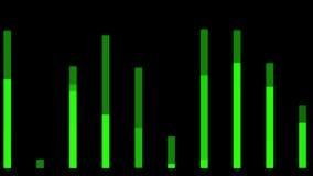 4k Audio equalizer,music rhythm Volume,speakers waves spectrum,heart-rate,vj. stock video