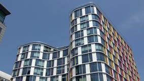 4K Bürogebäude im europäischen Bezirk von Brüssel Europ?isches Viertel stock footage