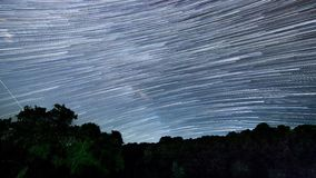 4K Beautiful Star Trails Milky Way Time-lapse stock video footage