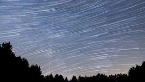4K Beautiful Star Trails Milky Way Time-lapse stock footage