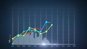 4k bedrijfs de Groei en Succespijl Infographics royalty-vrije illustratie
