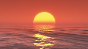 4k Big Sun Rise Over Ocean,Sunrise Time Lapse. stock video