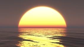 4k Big Sun Rise Over Ocean,Sunrise Time Lapse. stock video footage