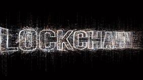 4k Blockchain Bitcoin di valuta di Cripto Il codice macchina binario di stile della matrice illustrazione di stock