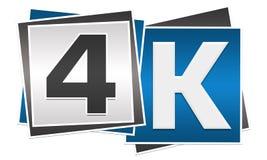 4K Blue Grey Blocks. 4k alphabets written over blue grey blocks Royalty Free Stock Image