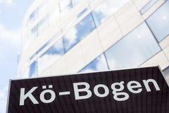 Kö Bogen building structure in Dusseldorf Stock Photo