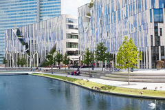 Kö Bogen building structure in Dusseldorf Royalty Free Stock Images