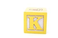 K-bokstav Fotografering för Bildbyråer