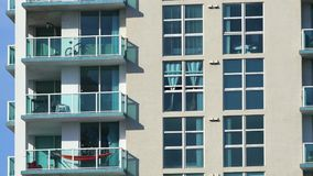 4k Building balconies and windows stock video footage