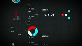 4K Business Data Scrolling Black