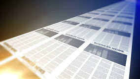 4K. Business Newspapers stock video footage