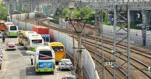 4k busy urban traffic & railway,china. 4k busy urban traffic & railway,china.  gh2_11538_4k stock video
