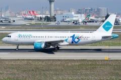 9K-CAI Jazeera Airways, Airbus A320-214 Fotos de archivo