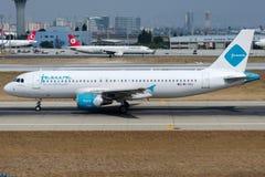 9K-CAJ Jazeera Airways, flygbuss A320-214 Fotografering för Bildbyråer