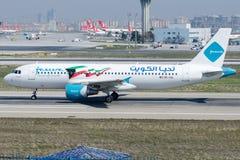 9K-CAL Jazeera Airways, flygbuss A320-214 Arkivbilder
