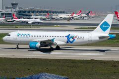 9K-CAO Jazeera Airways, Airbus A320 - 200 Stock Image