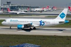 9k-CAO Jazeera Airways, Luchtbus A320 - 200 stock afbeelding