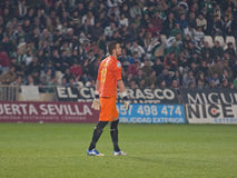K. Casilla From R.C.D. Español match king's Cup Royalty Free Stock Photography