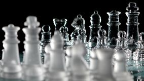 4K. Chess pieces, ready to play stock footage