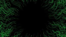 4k choas trawy Abstrakcjonistycznego nadwodnego mesh&fiber okręgu dziury linii tunelowy tło ilustracja wektor