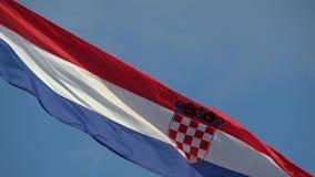 4K Chorwacja chor?gwiany falowanie w wiatrze Tricolour flaga zbiory