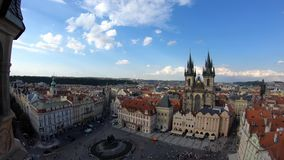 4K. Church of Mother of God before Týn, a gothic church in Prague, Czech. 4K. Church of Mother of God before Týn, a gothic church in Old Town of Prague stock footage