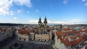 4K. Church of Mother of God before Týn, a gothic church in Prague, Czech. 4K. Church of Mother of God before Týn, a gothic church in Old Town of Prague stock video footage