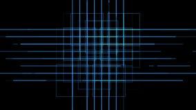 4k circuito eléctrico virtual, líneas de la tecnología de la ciencia, fondo de la partícula de la armadura de la matriz stock de ilustración
