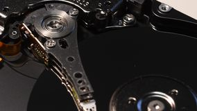 4K Close Up on Open Hard Disk Drive. HD, Ultra HD. stock footage
