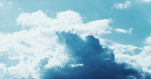 4K Clouds time lapse. Timelapse shot - colorful cloudscape with fast motion stock video