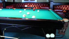 4K. Club For A Game Of Billiards. FULL HD, 4096x2304. stock video