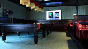 4K. Club For A Game Of Billiards. FULL HD, 4096x2304. stock footage