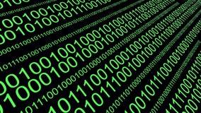 4k, codice sorgente binario, visualizzatore digitale di dati, fondo futuro di tecnologia illustrazione vettoriale