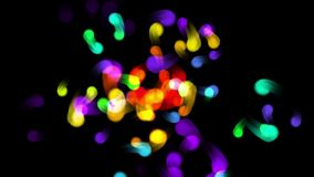 4k Color flying dot light fireworks background,abstract point particle backdrop.