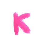 K - Color letters isolated over the white background. Stock Photography