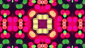 4K Colorful looping kaleidoscope sequence. Abstract motion graphics background.