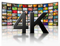 4k concept de la résolution TV Photos stock