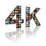 4k concept de la résolution TV Images libres de droits
