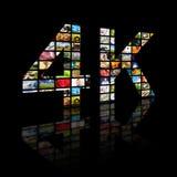 4k concept de la résolution TV Image libre de droits