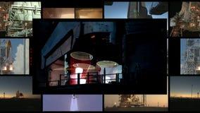 4k concept het reizen in de ruimte - Sommige die elementen door NASA worden geleverd stock footage