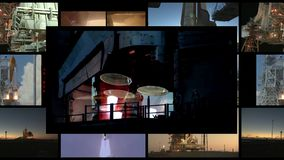4k Concept of travelling into the space - Some elements furnished by NASA. stock footage
