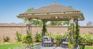 4k Contractor Facing Custom Pergola Drawing Transitioning to Photograph