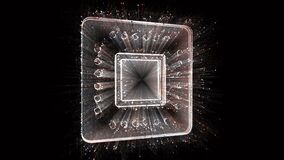 4k CPU Chip microprocessor Microchip hardware word tag,binary computer code.