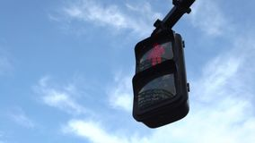 4K crosswalk znaka Tokio miasta ruchu drogowego zmiany Zwyczajna zieleń czerwony kolor zbiory wideo