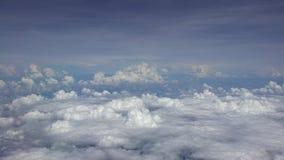 4K Cudowny widok niebo z góry i chmury, widzieć samolotowy okno zbiory
