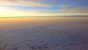 4K Cudowny widok zmierzch Przez Samolotowego okno Anteny Podróżować zbiory wideo