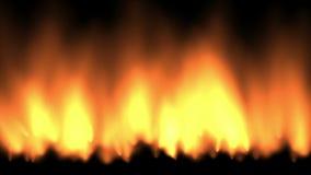 4k cuisinières à gaz, fond brûlant du feu chaud, énergie abstraite de puissance de fumée de particules illustration stock