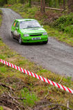 K. Culliname que conduz Opel Corsa Fotos de Stock Royalty Free